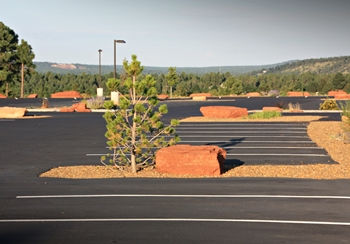 Flagstaff church parking lot