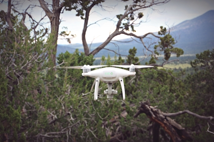 Aerial Mapping Drone Hovering
